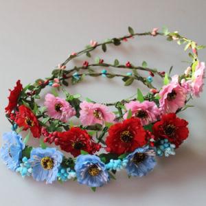 China Leis Hawaiian Ruffled Simulated Silk Flower Leis Artificial