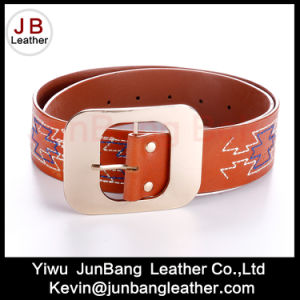 Newest Ladies Fashion PU Embroiders Belts pictures & photos