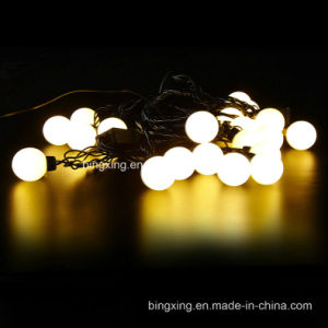 6 m christmas waterproof 4cm round balls with connetor plug led string light