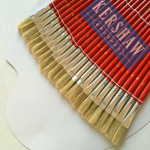 Artist Brush (ARTIST PAINTING BRUSH FLAT HEAD 24PCS-SET, PURE BRISTLE AND WOOD HANDLE) pictures & photos