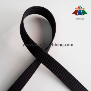 1cm Small Grooved Black Nylon Webbing in Stock pictures & photos