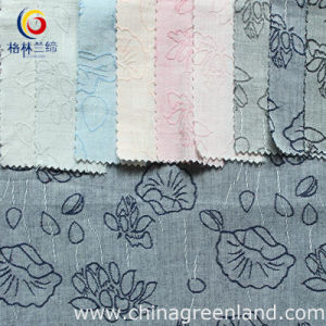 100%Cotton Single Jacquard Yarn Dyed Fabric to Woman Dress (GLLTHC003) pictures & photos