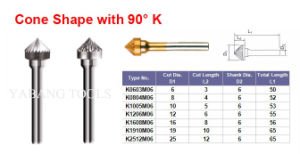 Conical Carbide Burrs (Type K) pictures & photos