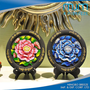 Wholesale Hibiscus Printing Home Decoration Carbon Carving pictures & photos