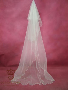 The New Set Beads Handmade Bridal Wedding Veil Factory Direct