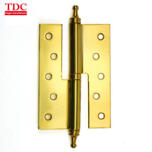 2pcs Stainless Steel Hinge Wooden Door Hinges Yellow Bronze Furniture Flat Open Bearing Hinge