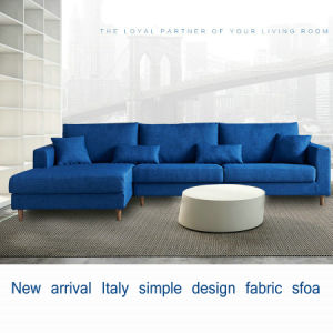 Blue Color Modern Sectional Nodic Fabric Sofa (S19)