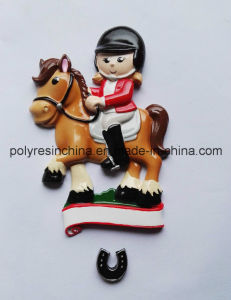 Polyresin Christmas Ornament of Horse Sport Gifts pictures & photos