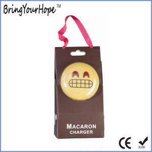 PVC Material Macron Face Expression Power Bank 2400mAh (XH-PB-118) pictures & photos