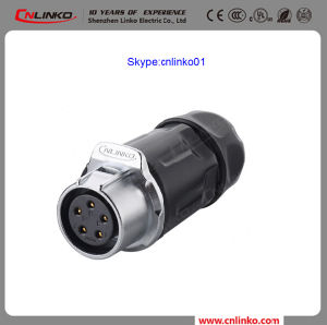High Quality Cnlinko 5pin Power Application Female and Male Electrical Connector for LED Screen pictures & photos