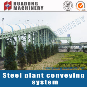 Long Distance Rubber Fixed Belt Roller Conveyor pictures & photos