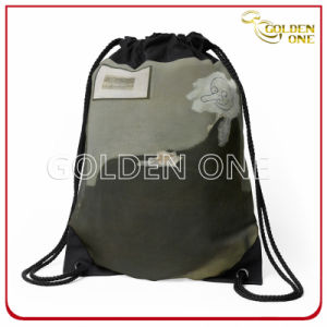 Fancy Style Multicolor Polyester Drawstring Bag pictures & photos