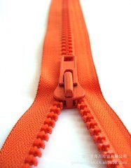 5# 7# Plastic Zipper Two-Way with Two Slider Thumb Slider and Normal Slider pictures & photos