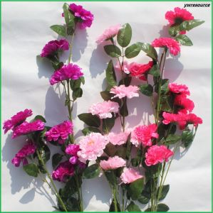 Cheap Silk Artificial Flowers Fake Rose for Wedding Decoration Wholesalers