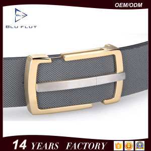 Custom Color Silver Finishing Buckle Leather Belt pictures & photos