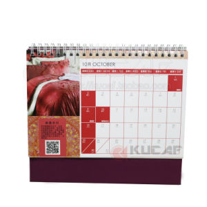 Personalised OEM Spiral Binding Calendar with Stand pictures & photos