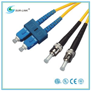 SC/PC-ST/PC Sm 9/125 Duplex with Clip 2m Fo Patch Cord pictures & photos
