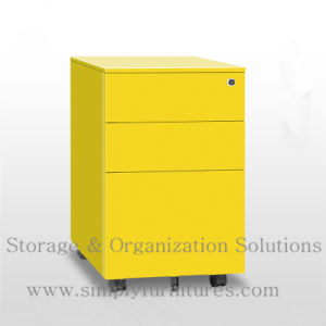 Under Desk Metal Rolling File Cabinet For Office