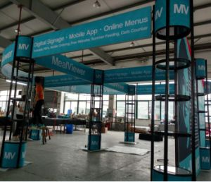 Creative Booth Exhibition : Creative cosmetic china exhibition booth design and construction