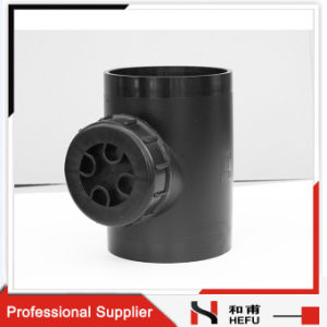 High Quality HDPE Drainage Pipe Fitting Access Tee pictures & photos