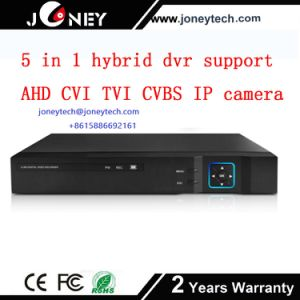 Hot Sell 5 in 1 Hybrid DVR Support Ahd Cvi Tvi Cvbs IP Camera Input