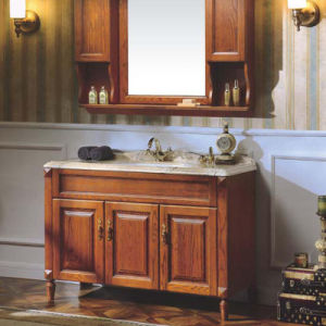Cheap Price Contemporary Bathroom Cabinet Vanity and Sink (GSP14-039) pictures & photos