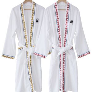 Factory Wholesale High Quality Cotton Hotel Bathrobe (DPFT8068) pictures & photos