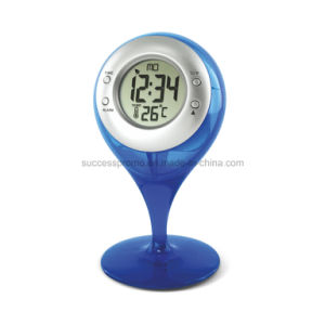 Novelty Gift Water Powered Thermometer Clock pictures & photos