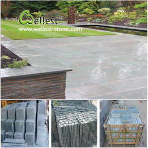 Natural Stone Yellow/Green/Grey/Rustic/Black Quartzite Slate for Paving/Floor/Wall Cladding pictures & photos