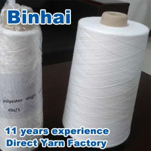 100% Polyester Spun Yarn Virgin/Close Virgin