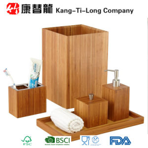 China Bamboo Wood Bathroom Accessories Set China Bamboo Bathroom