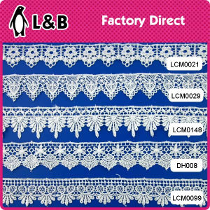 3.5cm Stock Design Embroidery Polyester Chemical Lace pictures & photos