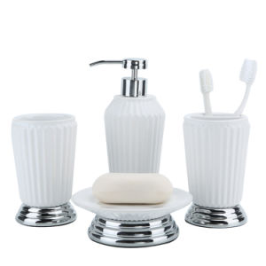 Glossy White Ceramic Bath Accessories