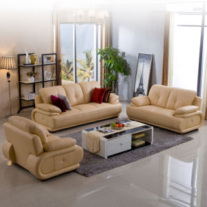 Moden Living Room Genuine Leather Sofa
