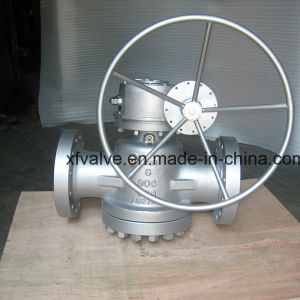 API599 900lb Cast Carbon Steel Wcb Flange End Plug Valve
