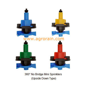Upside Down Type 360 Degree No Bridge Mini Sprinkler for Garden Agriculture Farmland Nursery Orchard