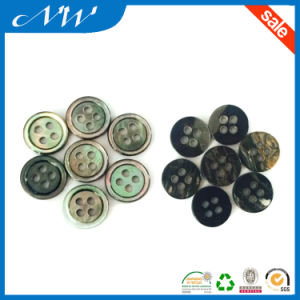 Natural Color 4 Hole Rim M. O. P Shell Button