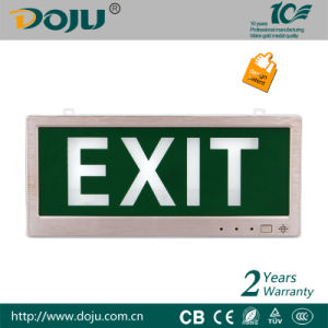 Flameresistant Material LED Emergency Exit Sign Light with CB(DJ-01E)