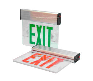 Edge-Lit Single Side Ni-CD Battery Backup Red Letter LED Exit Light pictures & photos