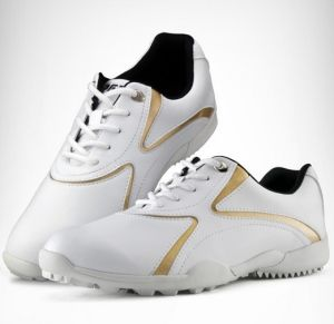 Golf Shoes Slip Resistant Microfiber Leather Golf Training Shoes (AKGS18) pictures & photos