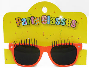 Party Sunglasses with Eyelash Red