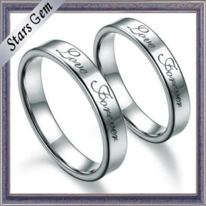 Fashion Top Quality Simple Solid Silver Engagement Ring for Gift pictures & photos