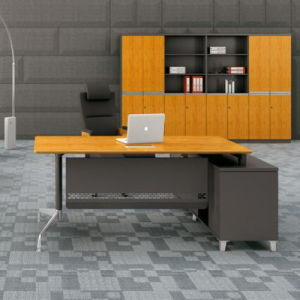 Modern Bamboo Grain Panel Executive Computer Desks (HY-60-0103) pictures & photos