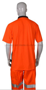 Good Selling Safety T-Shirt with Reflective Tape pictures & photos