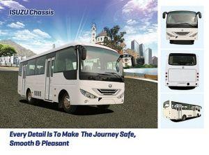 china hot sale! 2018 new bus, isuzu chassis 7.3m diesel widen bus