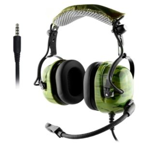 china professional helicopter airline headset with mic aviation