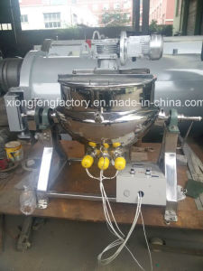 Commercial Electric Rotary Cooking Pot with Horizontal Mixer