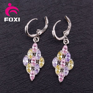 Good Quality Colorful Cooper Gold Plated Chandelier Earrings