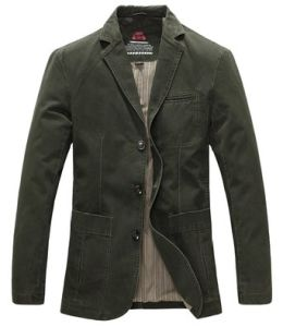 Men′s Casual Three-Button Stripe Lined Cotton Twill Suit Jacket pictures & photos