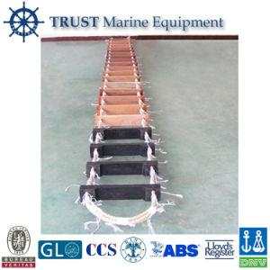 China Ccs Approved Marine Wooden Step Embarkation Ladder Climbing